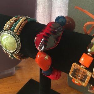Jewelry - 3 Stretchy Statement Bracelets